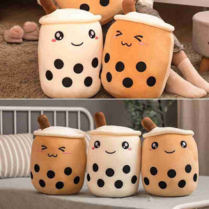 Simulation Pearl Tea Plush Toy Cute Cartoon Pearl Tea Cup Decor Soft Plush Toys
