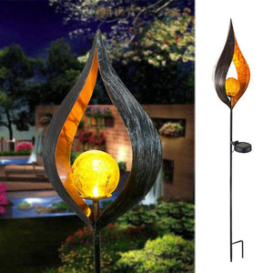 Solar Lamp LED Flame Lamp Outdoor Induction Lamp Garden Courtyard Decoration Landscape Lamp