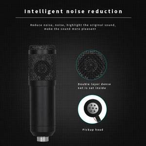 Sound Card Microphone Set Multifunctional USB Audio Interface Voice Changer Intelligent Volume Mic for Live Broadcast