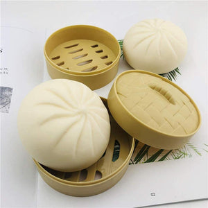 Steamed Stuffed Bun Simulation Decompression Toy Relieve Stress for Children Adults