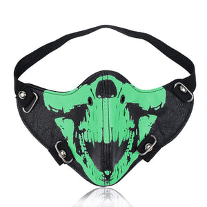 Steampunk Skull Headgear Glow in Dark Face Cover