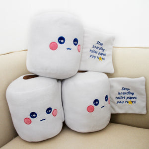 Stop Hoarding Toilet Paper Plush Toy Funny Plushie Gifts for Halloween