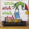 The Grinch 2020 Stink Stank Stunk Tapestry Wall Carpet Background Fabric Painting Tapestry