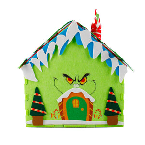 The Grinch DIY Christmas House with Four Grinch Plush Toys Set for Kids Christmas Activity