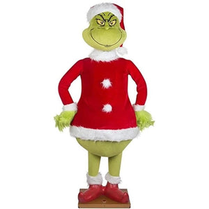 The Grinch Standing Plush Toy Christmas Decoration Stuffed Plushie Doll 23.6 Inches