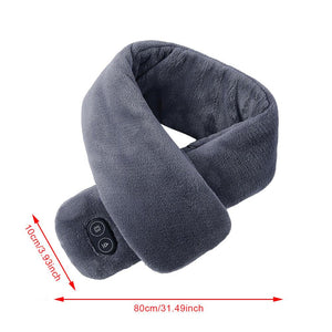 USB Heated Winter Scarf Shawl Smart Heating Solid Color Vibration Massage Scarf Unisex