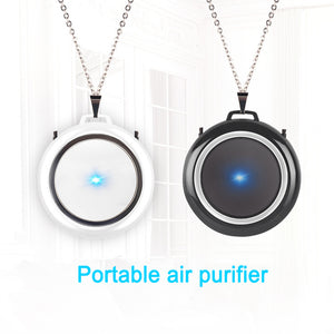 USB Portable Air Purifier Necklace for Adult Kids Negative Ion Air Freshener No Radiation Low Noise Mini