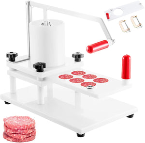 Commercial Burger Press 130mm/5inch PE Material Manual with Tabletop Fixed Design Hamburger Meat Fish Beef Patty Forming Processor Perfect for Restaurant Supermarket