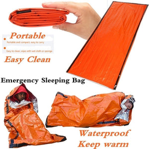 Waterproof Lightweight Thermal Emergency Sleeping Bag Bivy Sack - Survival Blanket Bags Emergency Tent Emergency Kit Supplies