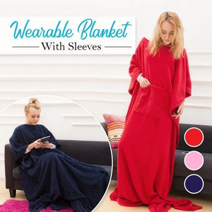 Wearable Duvet with Sleeves