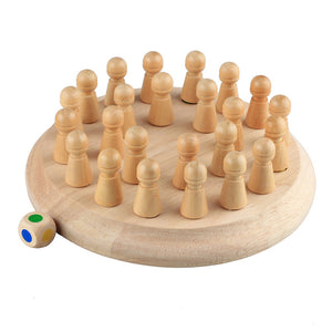 Wooden Memory Match Stick Chess Game Educational Toys for Family