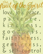 Load image into Gallery viewer, Fruit of the Spirit Galatians 5:22-23 Scripture Watercolor Wall Art