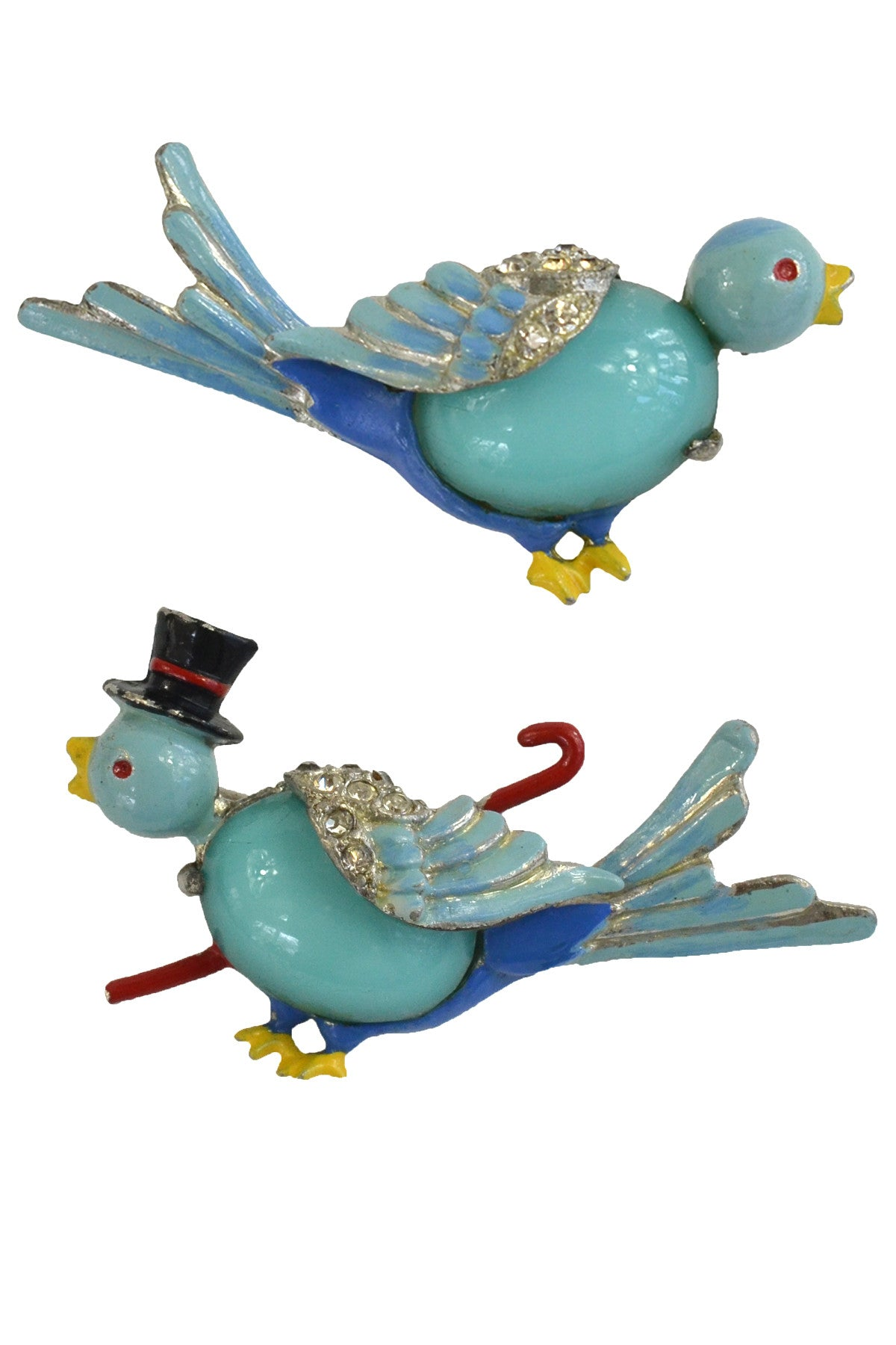 1941 Gene Verrecchio Coro unsigned Mr. and Mrs. Bluebird Pins Brooch