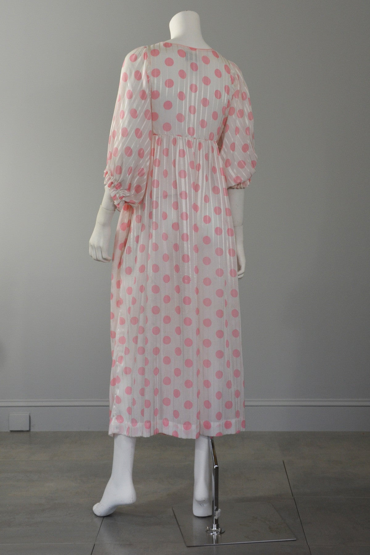 Christian Dior Pink Polka Dot Babydoll Dressing Gown
