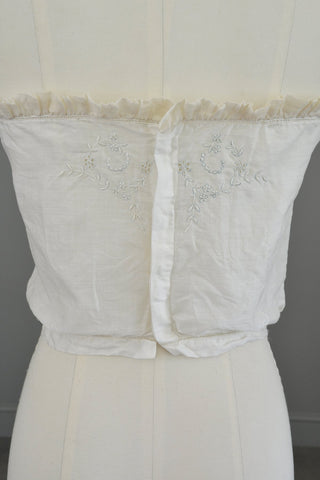 15feb603109 ... Edwardian Sheer White Baby Blue Embroidered Camisole Corset Cover