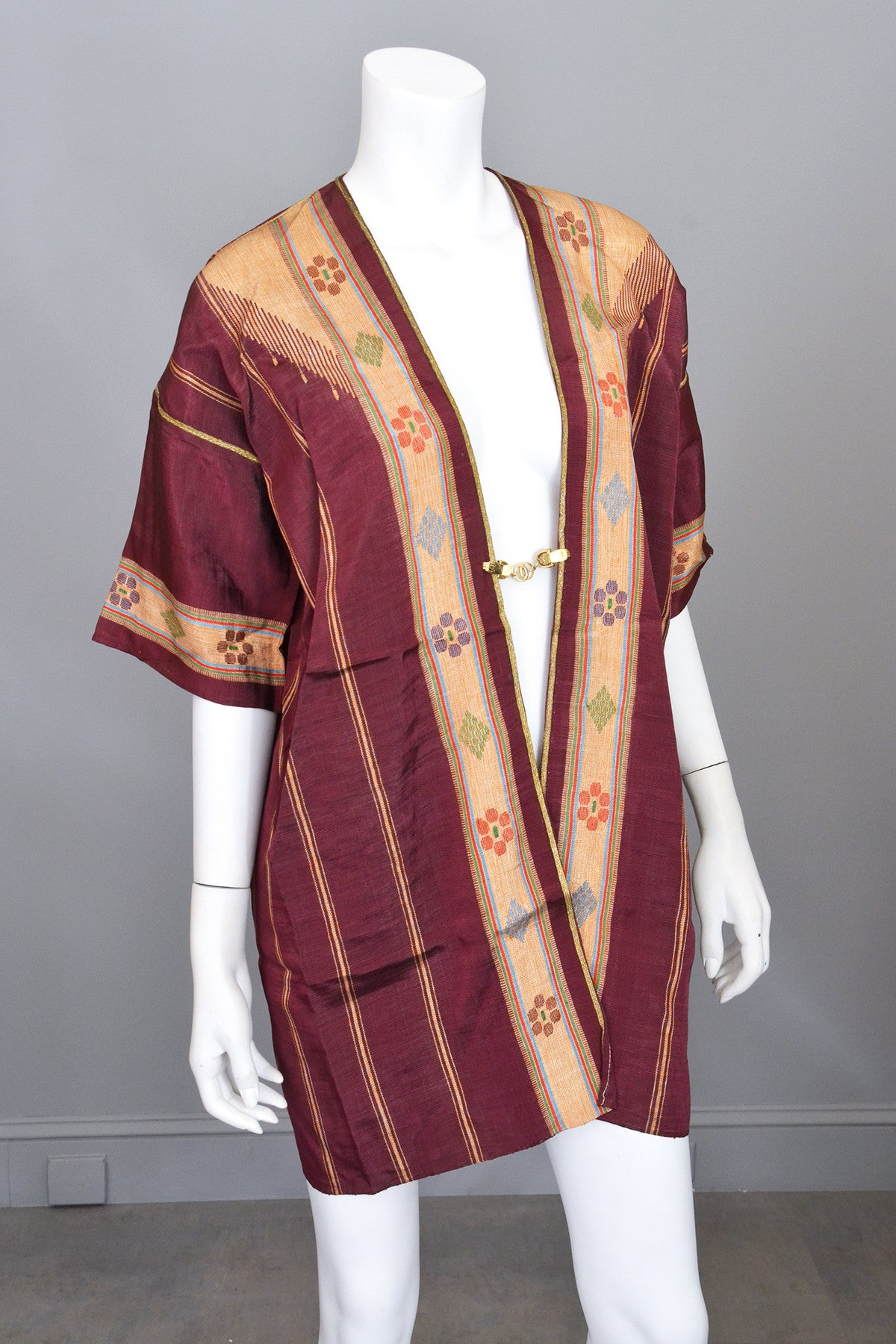 Plum Gold Ethnic Duster