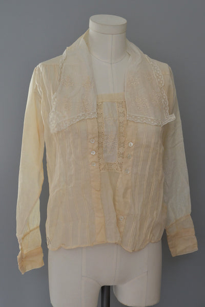 SOLD Wearable Sheer Blouse with Sailor Collar