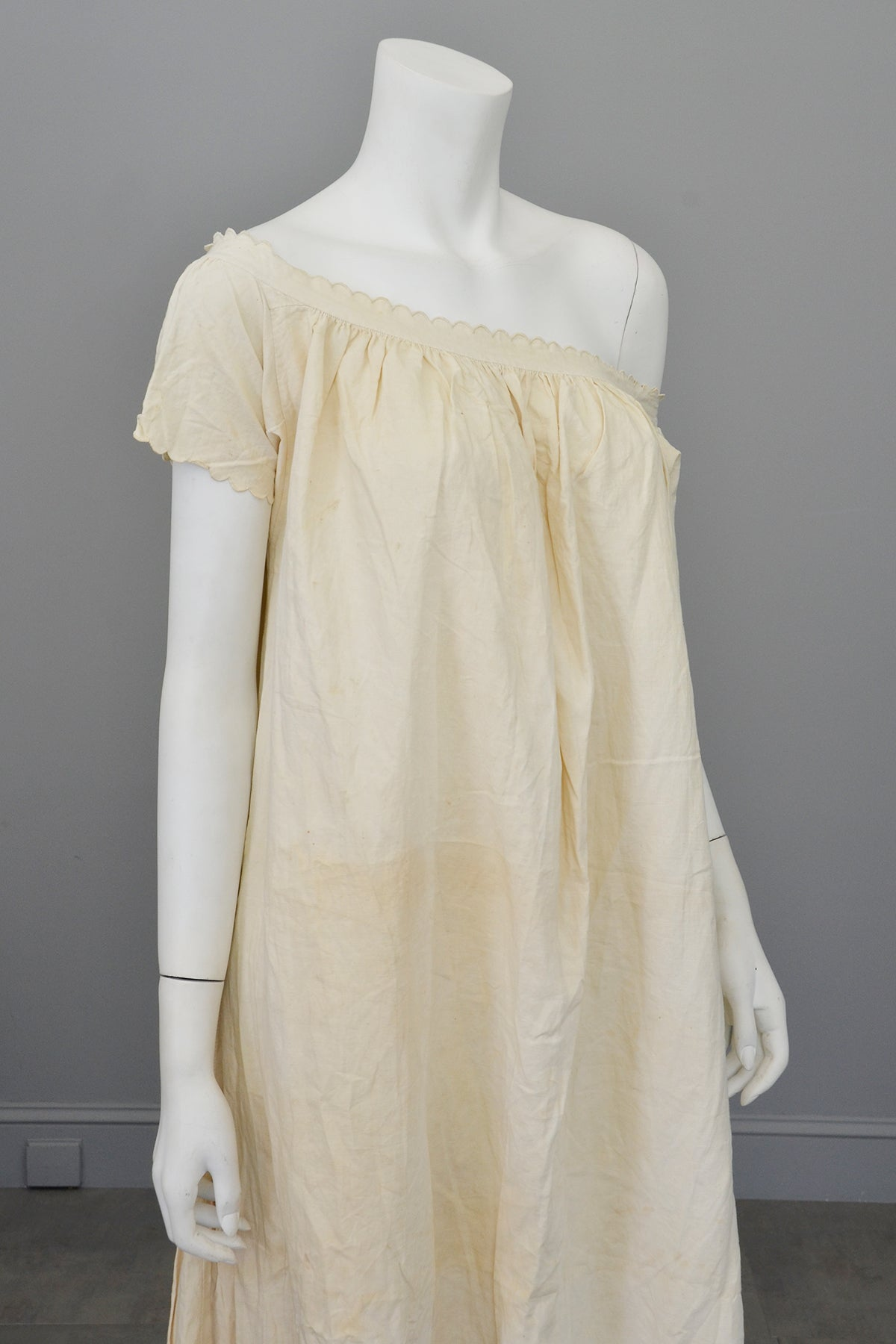 Victorian Off White Off Shoulder Nightgown