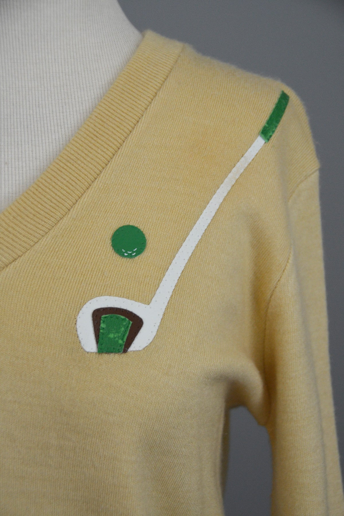 Vintage Owl Golf Sweater