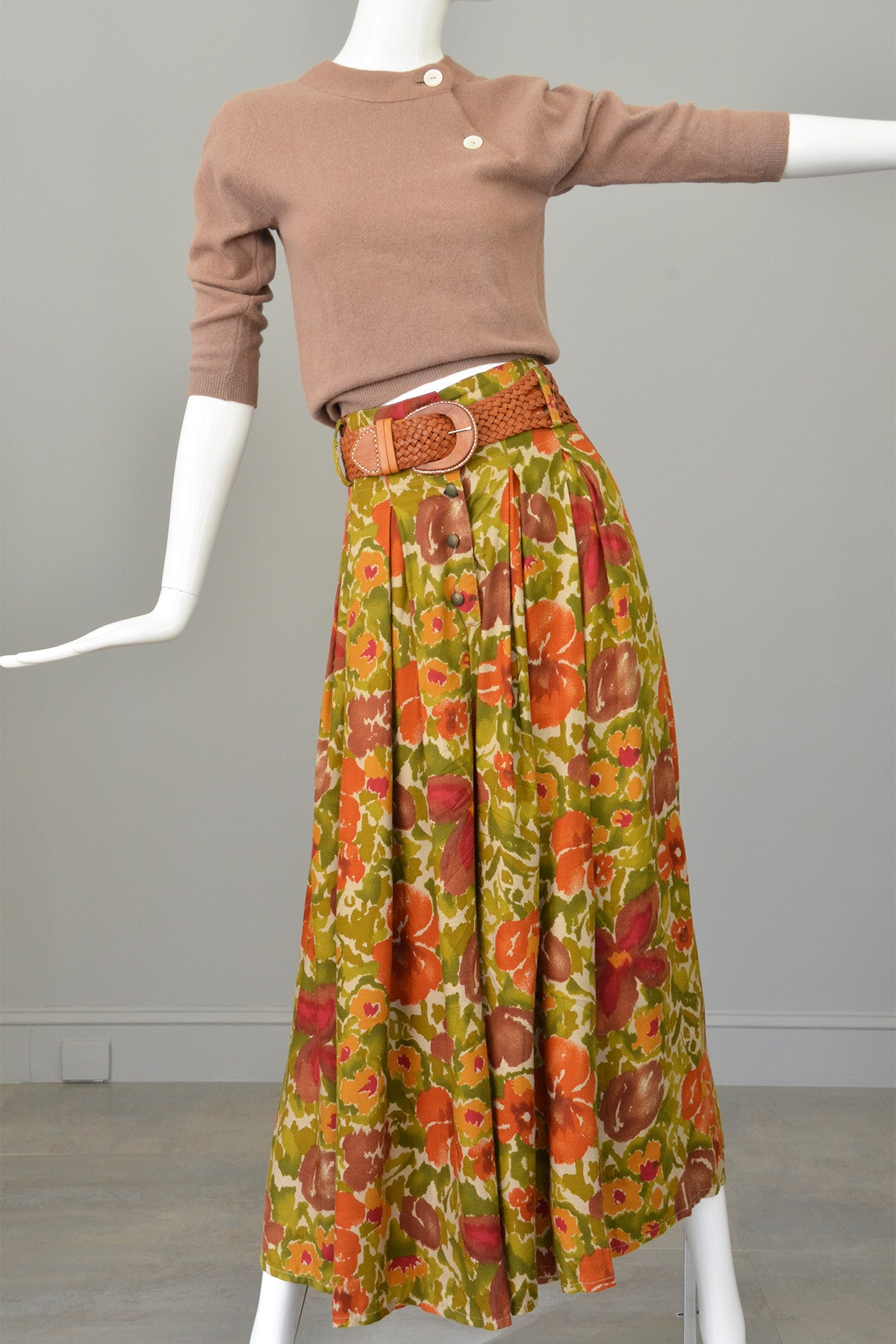 Vtg 1970s High Waisted Wide Leg Palazzo Pants