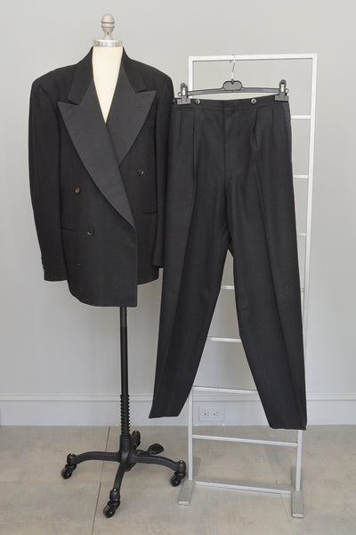 Weber and Heilbroner Three Piece Tuxedo Suit with Vest