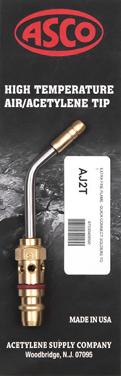 "AJ2T High Temp Acetylene Tip - Extra Fine Flame ""Quick Connect"""