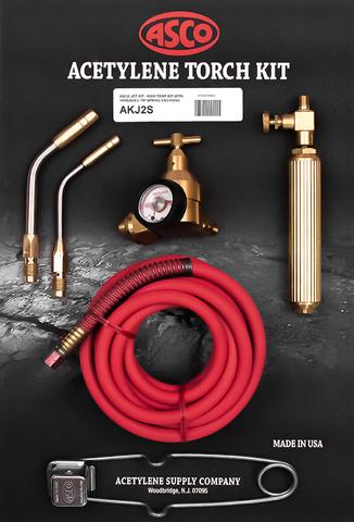 Acetylene Torch Kit w/Spring End Hose AKJ2S JET Air
