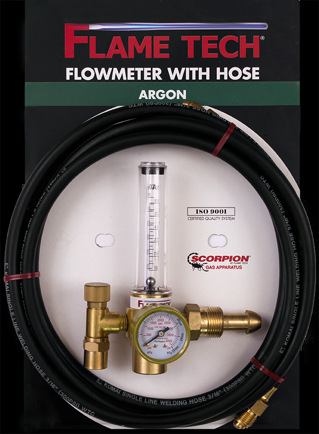Flame Tech Argon Flowmeter with Hose