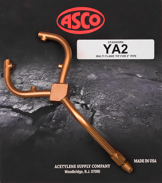 YA2 2 Inch Fixed Staghorn Low Temp Acetylene Tip