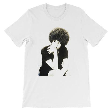 Angela Davis Afro Idol Kids T-Shirt - White / 3 to 4 Years