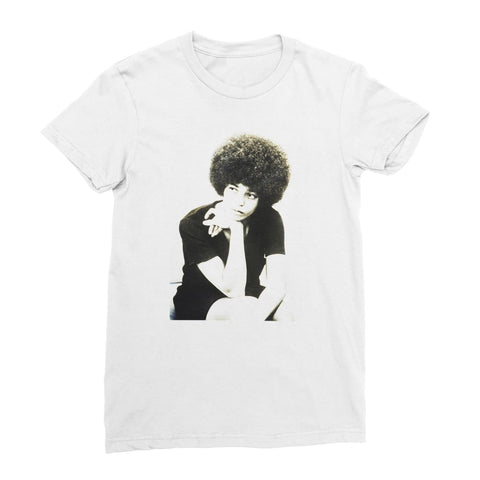 Angela Davis Afro Idol Women's T-Shirt - White / Female / S