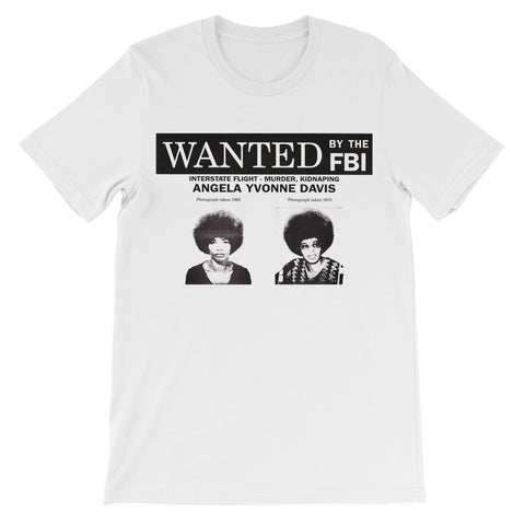 Angela Davis Wanted Kids T-Shirt - White / 3 to 4 Years