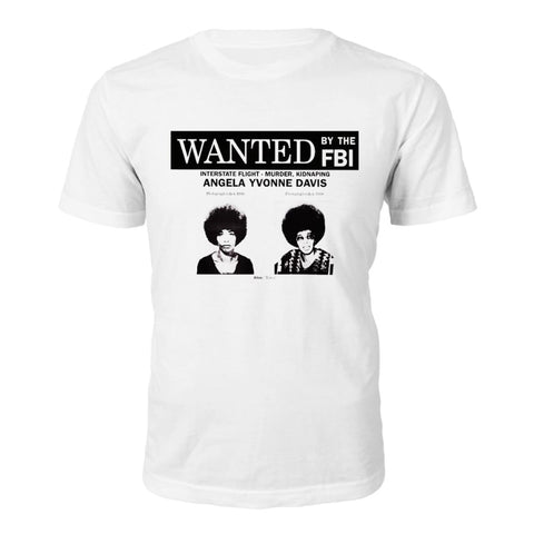 T-Shirt di Angela Davis Wanted