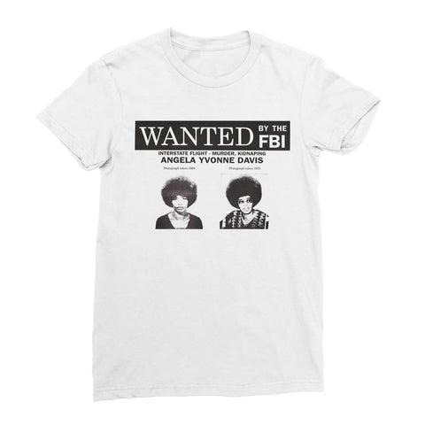 Angela Davis Wanted Women's T-Shirt - White / Female / S