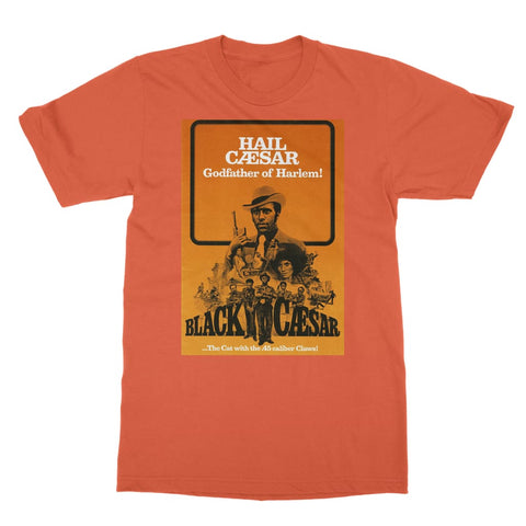 Black Caesar Poster T-Shirt - Orange / Unisex / S