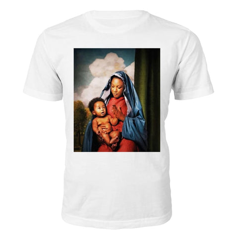 Black Jesus Chest T-Shirt