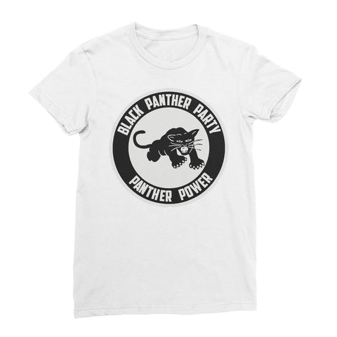 Black Panther Party Logo Women's T-Shirt - White / Female /