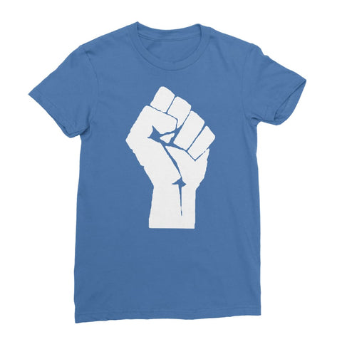 Black Power Fist Women's T-Shirt - Royal Blue / Female / S