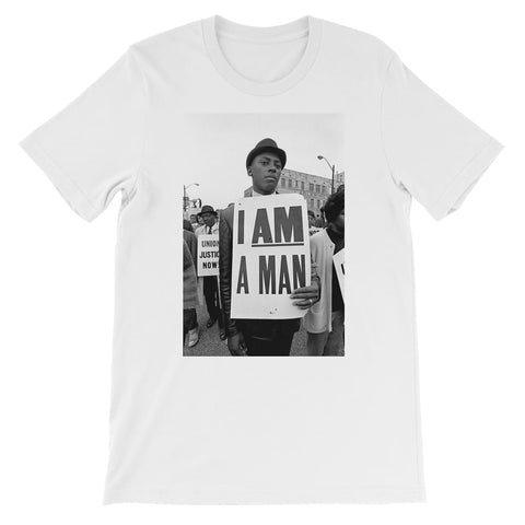 I Am a Man Kids T-Shirt - White / 3 to 4 Years
