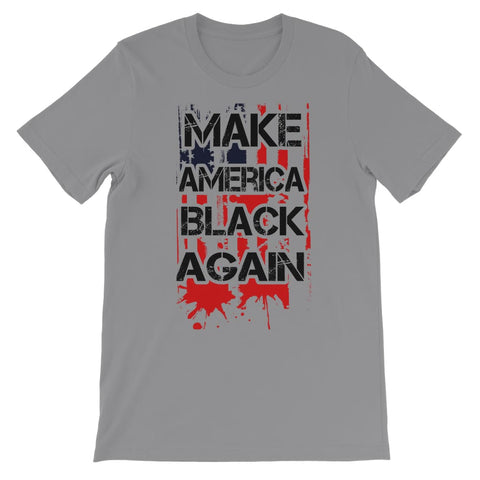 Make America Black Again Kids T-Shirt - Light Grey / 3 to 4