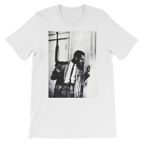 Malcolm X By Any Means Necessary Kids T-Shirt - White / 3 to