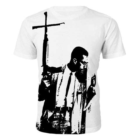 Malcolm X By Any Means Tシャツ