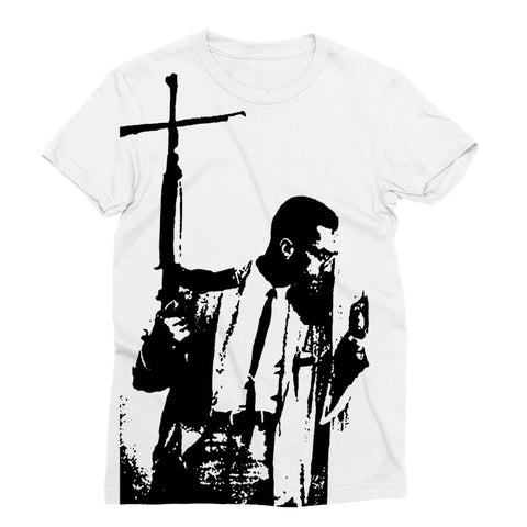Malcolm X By Any Means T-shirt dam - XS