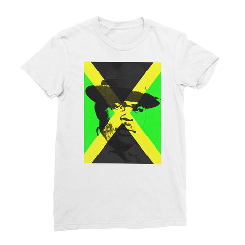 Marcus Garvey Jamaica Women's T-Shirt - White / Female / S