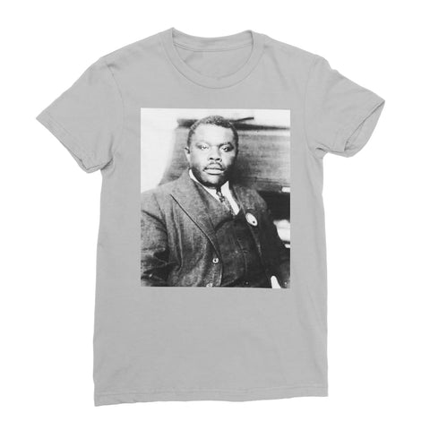 Marcus Garvey Prophet Women's T-Shirt - Light Grey / Female