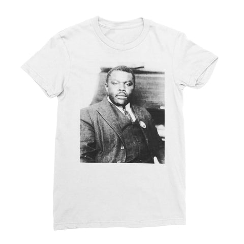 Marcus Garvey Prophet Women's T-Shirt - White / Female / S