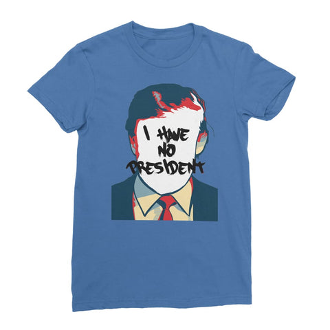 No President Women's T-Shirt - Royal Blue / Female / S
