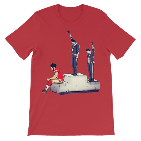 Rebellion in Sports Kids T-Shirt - Red / 3 to 4 Years
