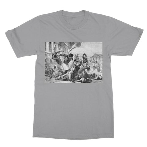 Slave Revolt T-Shirt - Light Grey / Unisex / S