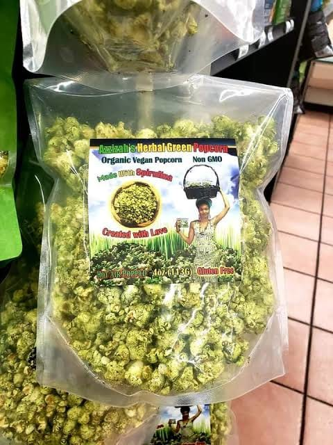Azzizah's Herbal Green Popcorn